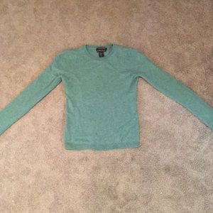 Blue green sweater
